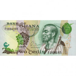 Ghana - Pick 14c - 2 cedis - Série P/1 - 02/01/1977 - Etat : NEUF