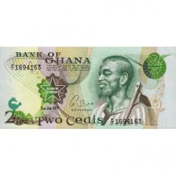 Ghana - Pick 14c_1 - 2 cedis - Série P/1 - 02/01/1977 - Etat : NEUF