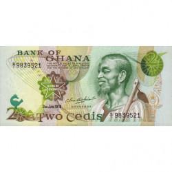 Ghana - Pick 14c - 2 cedis - Série Q/1 - 02/01/1978 - Etat : NEUF