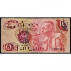 Ghana - Pick 16b - 10 cedis - Série B/1 - 02/01/1973 - Etat : TB