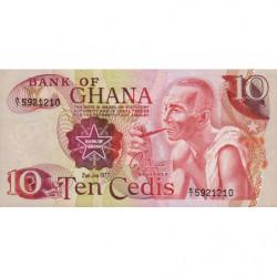 Ghana - Pick 16e - 10 cedis - 02/01/1977 - Etat : NEUF