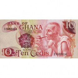 Ghana - Pick 16f - 10 cedis - 02/01/1978 - Etat : NEUF