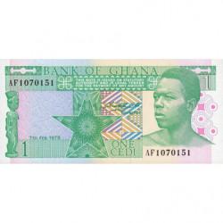 Ghana - Pick 17a - 1 cedi - 07/02/1979 - Etat : NEUF