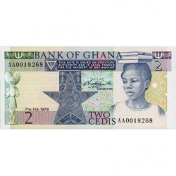 Ghana - Pick 18a - 2 cedis - 07/02/1979 - Etat : NEUF