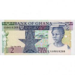 Ghana - Pick 18a - 2 cedis - Série AA - 07/02/1979 - Etat : NEUF