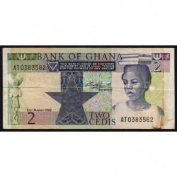 Ghana - Pick 18d - 2 cedis - Série AT - 06/03/1982 - Etat : TB