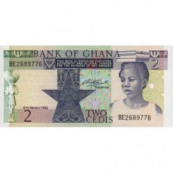 Ghana - Pick 18d - 2 cedis - 06/03/1982 - Etat : NEUF