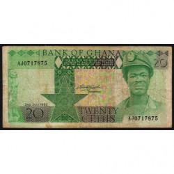 Ghana - Pick 21b - 20 cedis - Série AJ - 02/07/1980 - Etat : TB-