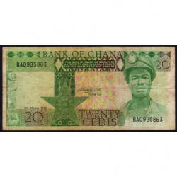 Ghana - Pick 21c - 20 cedis - Série BA - 06/03/1982 - Etat : TB-