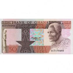 Ghana - Pick 22b - 50 cedis - Série AC - 02/07/1980 - Etat : NEUF