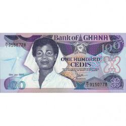 Ghana - Pick 26a_3 - 100 cedis - Série R/1 - 15/07/1986 - Etat : NEUF