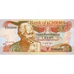 Ghana - Pick 27b_2 - 200 cedis - Série D/2 - 19/07/1990 - Etat : NEUF