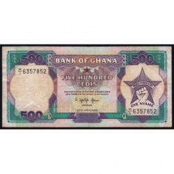 Ghana - Pick 28b_1 - 500 cedis - Série H/1 - 20/04/1989 - Etat : TB+