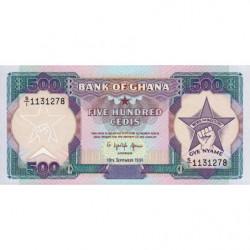 Ghana - Pick 28c - 500 cedis - 19/09/1991 - Etat : NEUF