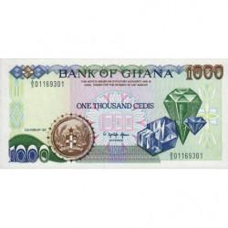 Ghana - Pick 29a - 1'000 cedis - Série A/5 - 22/02/1991 - Etat : NEUF