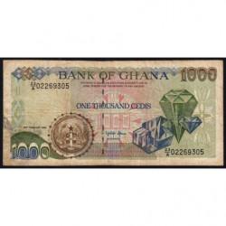 Ghana - Pick 29b_4 - 1'000 cedis - Série A/23 - 23/02/1996 - Etat : TB-