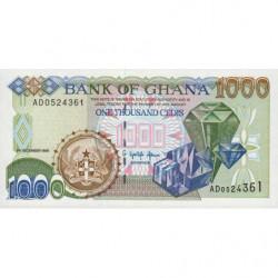 Ghana - Pick 32a - 1'000 cedis - Série AD - 05/12/1996 - Etat : NEUF
