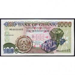 Ghana - Pick 32h - 1'000 cedis - Série MB - 02/09/2002 - Etat : NEUF