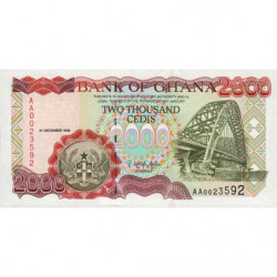 Ghana - Pick 33a - 2'000 cedis - 05/12/1996 - Etat : NEUF