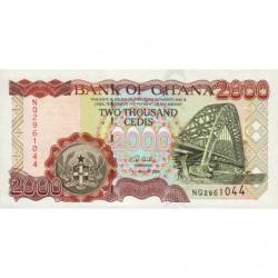 Ghana - Pick 33h - 2'000 cedis - Série NQ - 04/08/2003 - Etat : NEUF