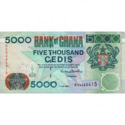 Ghana - Pick 34e - 5'000 cedis -Série BX -  01/07/2000 - Etat : TTB