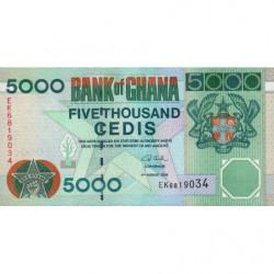 Ghana - Pick 34j - 5'000 cedis - Série EK - 04/08/2006 - Etat : NEUF