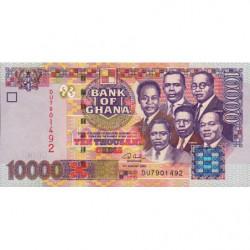 Ghana - Pick 35b - 10'000 cedis - Série DU - 04/08/2003 - Etat : NEUF