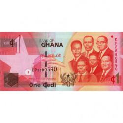Ghana - Pick 37c - 1 cedi - Série DP - 06/03/2010 - Etat : NEUF