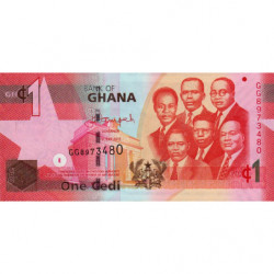 Ghana - Pick 37f - 1 cedi - Série GG - 01/07/2015 - Etat : NEUF