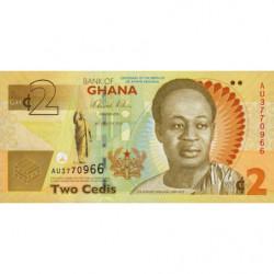 Ghana - Pick 37Aa - 2 cedis - Série AU - 06/03/2010 - Commémoratif - Etat : NEUF