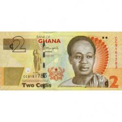 Ghana - Pick 37Ad - 2 cedis - Série CC - 01/07/2015 - Etat : NEUF