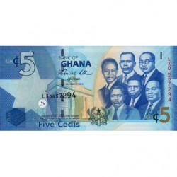 Ghana - Pick 38b - 5 cedis - Série LX - 06/03/2010 - Etat : NEUF