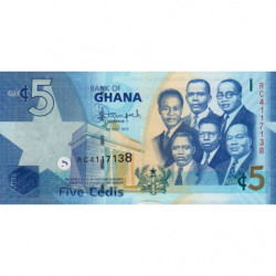 Ghana - Pick 38f - 5 cedis - 01/07/2015 - Etat : NEUF