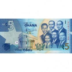 Ghana - Pick 38f - 5 cedis - Série RC - 01/07/2015 - Etat : NEUF