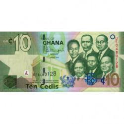 Ghana - Pick 39f - 10 cedis - 01/07/2015 - Etat : NEUF