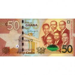Ghana - Pick 42c - 50 cedis - Série XL - 01/07/2015 - Etat : NEUF
