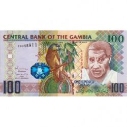 Gambie - Pick 29b_1 - 100 dalasis - Série C - 2010 - Etat : NEUF