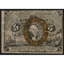 Etats Unis d'Amérique - Pick 101a - 5 cents - 03/03/1863 - Etat : TTB
