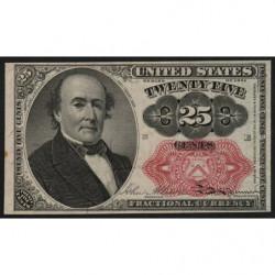 Etats Unis d'Amérique - Pick 123b - 25 cents - 1874 - Etat : SUP