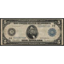 Etats Unis d'Amérique - Pick 359b - 5 dollars - 1923 - Etat : B+