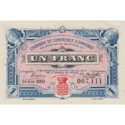 Annonay - Pirot 11-14 - 1 franc - 1917 - Etat : SPL