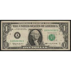 Etats Unis d'Amérique - Pick 443a - 1 dollar - 1963 - A : Boston - Etat : TB+