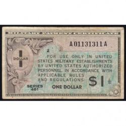 Etats Unis d'Amérique - Militaire - Pick M5 - 1 dollar - Série 461 - 1946 - Etat : TB