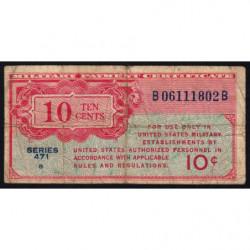 Etats Unis d'Amérique - Militaire - Pick M9 - 10 cents - Série 471 - 1947 - Etat : B+