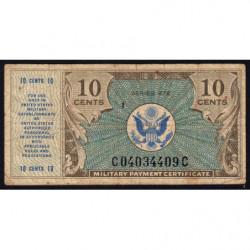 Etats Unis d'Amérique - Militaire - Pick M16 - 10 cents - Série 472 - 1948 - Etat : TB