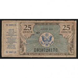 Etats Unis d'Amérique - Militaire - Pick M17 - 25 cents - Série 472 - 1948 - Etat : B+