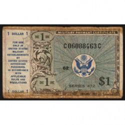 Etats Unis d'Amérique - Militaire - Pick M19 - 1 dollar - Série 472 - 1948 - Etat : B