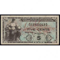 Etats Unis d'Amérique - Militaire - Pick M22 - 5 cents - Série 481 - 1951 - Etat : TTB