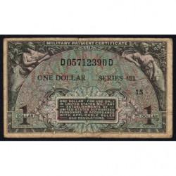 Etats Unis d'Amérique - Militaire - Pick M26 - 1 dollar - Série 481 - 1951 - Etat : B+