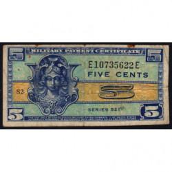 Etats Unis d'Amérique - Militaire - Pick M29 - 5 cents - Série 521 - 1954 - Etat : B+
